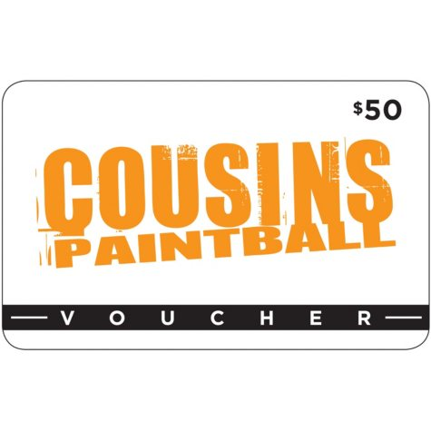 Cousins Paintball (NY, NJ, TX) - $50 Value Gift Card