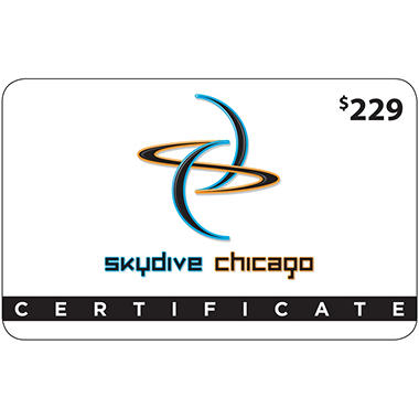 Skydive Chicago $229 Value Gift Card