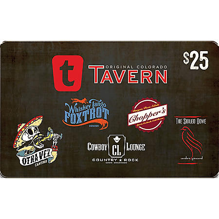 The Tavern Hospitality Group $100 Value Gift Cards - 4/$25