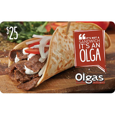 Olga's Kitchen $50 Value Gift Cards - 2 x $25