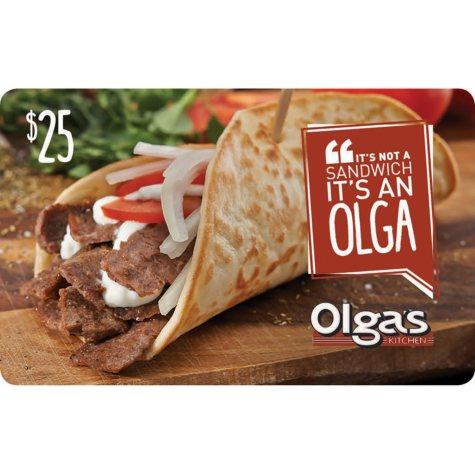 Olga's Kitchen $50 Value Gift Cards - 2 x $25