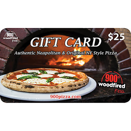 900 Degrees Woodfired Pizza $50 Value Gift Cards - 2 x $25