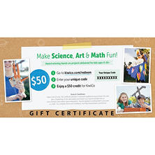 KiwiCo.com S.T.E.A.M Projects- $50 Gift Card