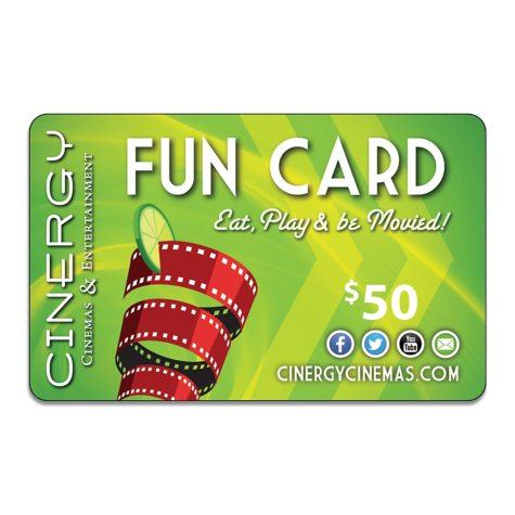 Cinergy Entertainment Gift Card - $50 Value (Copperas Cove, TX Location Only)