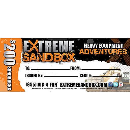 Extreme Sandbox $200 Value Gift Card