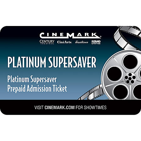 Cinemark Gift Card - 2 Tickets (Locations in Utah Only)