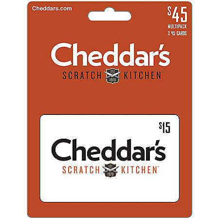 Cheddar's $45 Value Gift Cards - 3 x $15