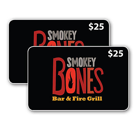 Smokey Bones Bar & Fire Grill $50 Value Gift Cards - 2 x $25