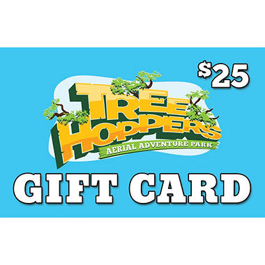 TreeHoppers Aerial Adventure Park Gift Card - 2 x $25