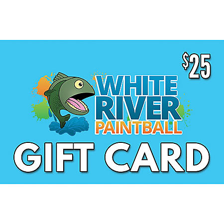 White River Paintball Gift Card $50 Value Gift Cards - 2 x $25