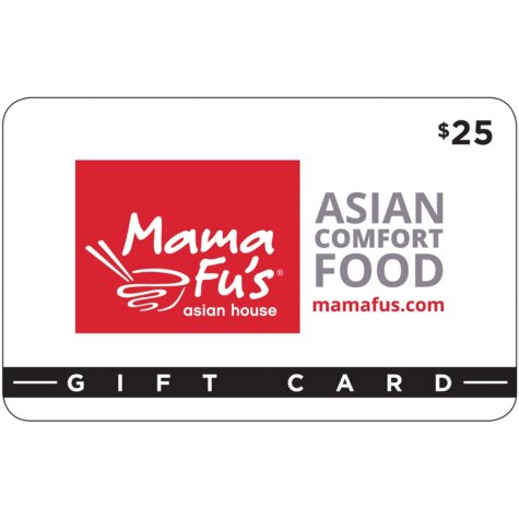 Mama Fu's Asian House $50 Value Gift Cards- 2 x $25