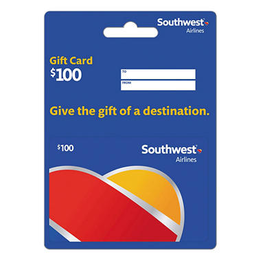 Southwest Airlines Gift Card Various Amounts