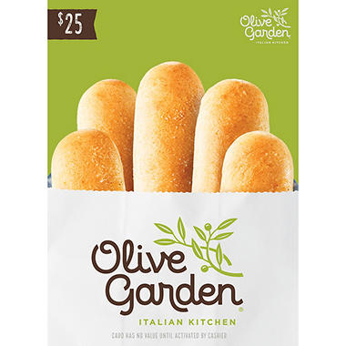 Olive garden 25 gift card sam 39 s club for Olive garden gift card specials