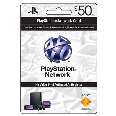 Sony Playstation Network Card - $50