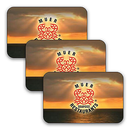 Muer Seafood Restaurants (Landry's) $90 Value Gift Cards - 3 x $25 Plus Bonus $15 Card
