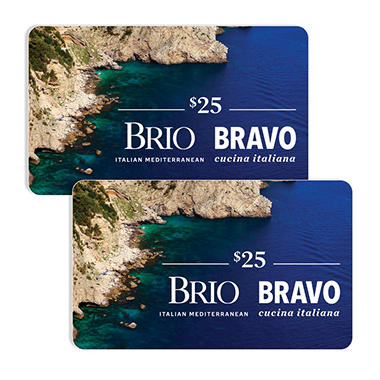 Bravo Brio Restaurant Group $50 Value Gift Cards - 2 x $25