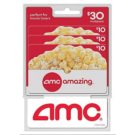 AMC Theatres $30 Multi-Pack - 3/$10 Gift Cards
