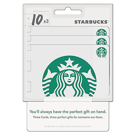 Starbucks $30 Value Gift Cards - 3 x $10 Gift Cards