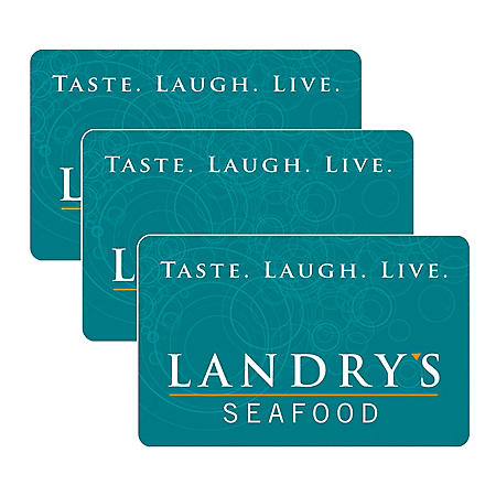 Landry's $90 Value Gift Cards - 3 x $25 Plus Bonus $15 Card