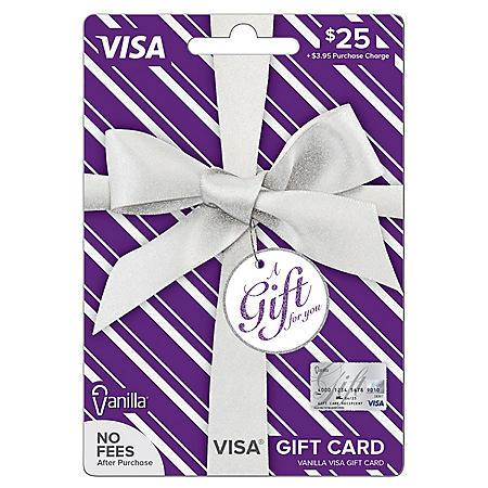 Vanilla Visa® Silver Metallic Bow $25 Gift Card
