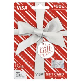 Vanilla Visa® Silver Metallic Bow $50 Gift Card