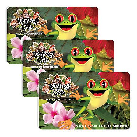 Rainforest Cafe (Landry's) $90 Value Gift Cards - 3 x $25 Plus Bonus $15 Card