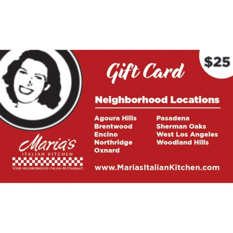 Maria's Italian Kitchen (CA) $100 Value Gift Cards - 4 x $25