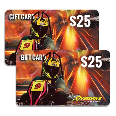 Overdrive Raceway (CO) $50 Value Gift Cards - 2 x $25