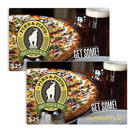 Pies & Pints $50 Value Gift Cards - 2 x $25