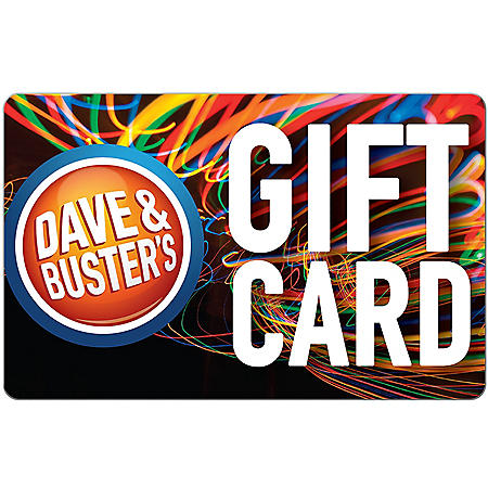 Dave & Busters - Various Amounts (Email Delivery)