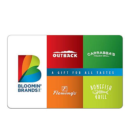 Bloomin' Brands $50 Gift Card - Sam's Club  $50