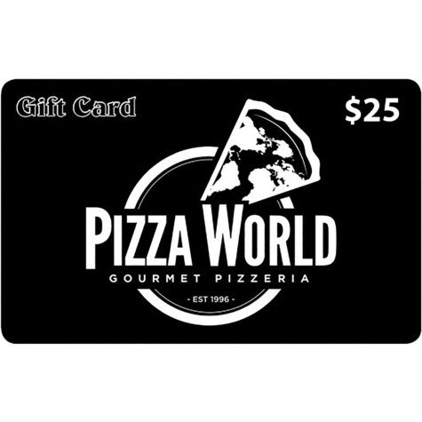 Pizza World (IL, MO) $50 Value Gift Cards - 2 x $25