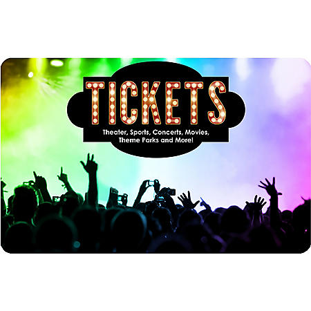 Tickets Card $100 Value Gift Card