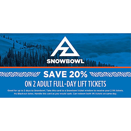 Snowbowl $158 All Day Adult Tickets - 2 x $79
