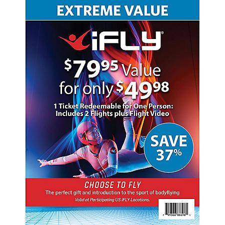 iFLY Indoor Skydiving 1 Voucher 2 Flights