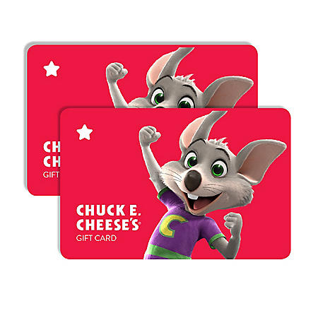 Chuck E Cheese $50 Value Gift Cards - 2 x $25