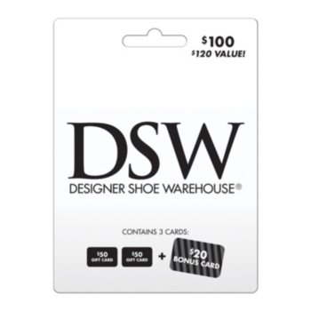 $120 DSW Gift Card