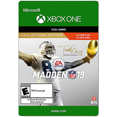 Madden NFL 19 Hall of Fame (Xbox One) - Digital Code
