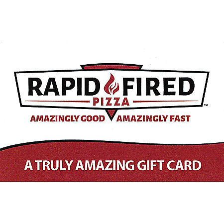 Rapid Fired Pizza $50 Value Gift Cards - 2 x $25