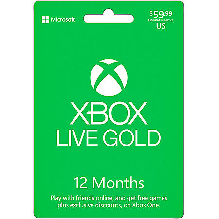 Xbox Live 12 Month - $59.99