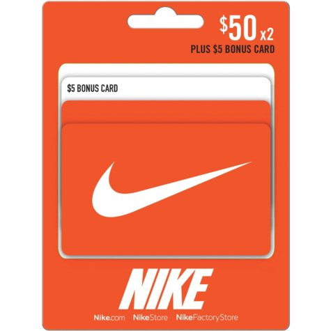 Nike $105 Value Gift Cards - 2 x $50 and Bonus $5 Card