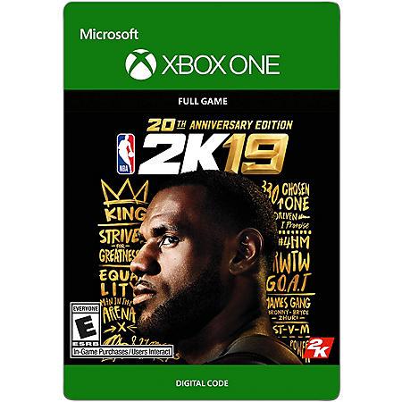 NBA 2K19 20th Anniversary (Xbox One) - Digital Code