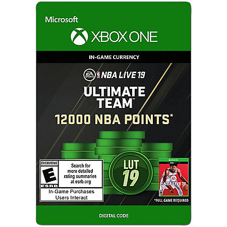 NBA Live 19 12000 Points (Xbox One) - Digital Code