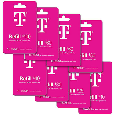 T-Mobile Refill eGift Card - Various Amounts (Email Delivery)