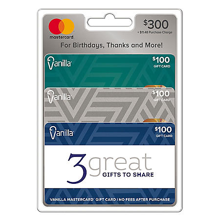 Vanilla® Mastercard® $300 Value Gift Cards - 3 x $100