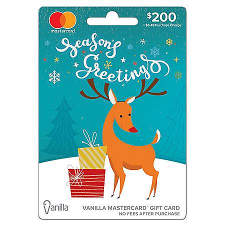 Holiday Vanilla Mastercard® $200 Gift Card