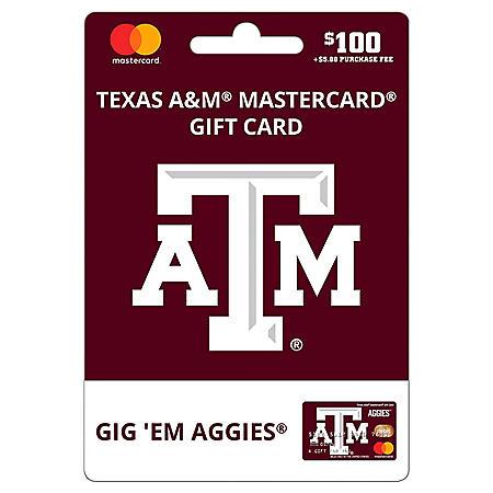 $100 UFan Texas A&M Mastercard Gift Card