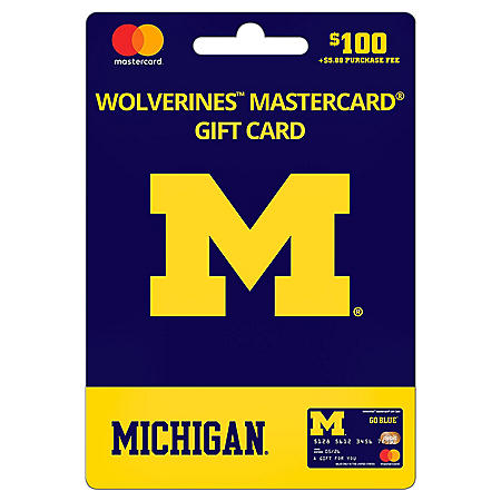 $100 UFan University of Michigan Mastercard® Gift Card