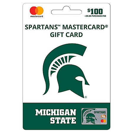 $100 UFan Michigan State Mastercard® Gift Card
