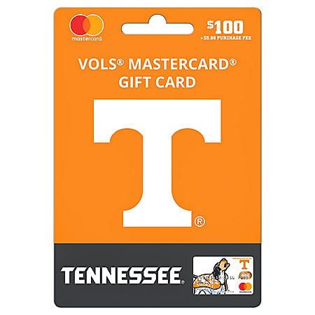 $100 UFan University of Tennessee Mastercard Gift Card